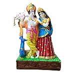 JaipurCrafts Radha Krishna With Peacock Showpiece