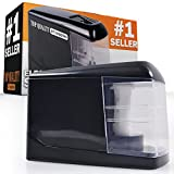 Electric Pencil Sharpener (2017 Model) Automatic Battery Operated - for Home or the Classroom - Heavy Duty Industrial Strength - Works on Colored Pencils