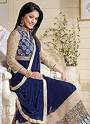 Diya Women's Blue Georgette Designer Dress Materials [DS_JCN1021_B]