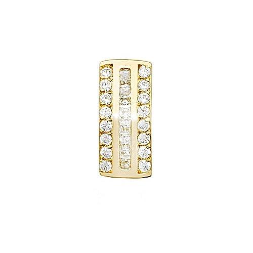 18k gold pendant zircons rail [AA4647]