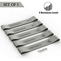 Portholic Exercise Resistance 5 Mini Loop Bands for Workouts