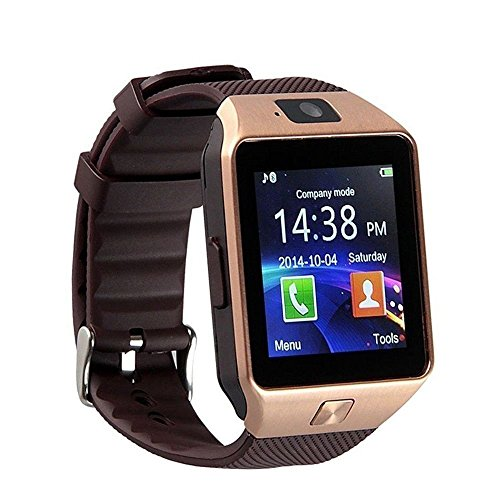 SBA BRANDED SW-001 Bluetooth Smart Watch Phone With Camera and Sim Card Support With Apps like Facebook and WhatsApp Touch Screen Multilanguage Android/IOS Mobile Phone Wrist Watch Phone with activity trackers and fitness band features compatible with Samsung IPhone HTC Moto Intex Vivo Mi One Plus and many others! Launch Offer!!