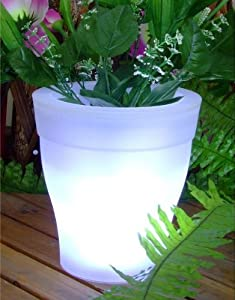 solarleuchte solarlampe solartopf led licht blumentopf. Black Bedroom Furniture Sets. Home Design Ideas