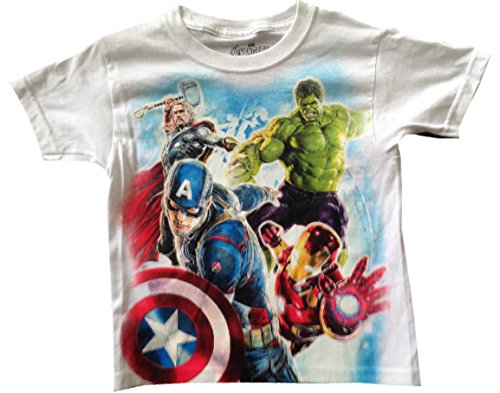 AVENGERS - Action! - Thor, Hulk, Captain America, Iron Man - Kids T-shirt