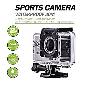 "KEHAN C60 HD 1080P 60fps Mini Wi-Fi Action Camera H.264 16MP Sport Diving DV Video Camcorder 2.0"" Screen 170 Degree Wide Lens with Various Recording Modes Time-Lapse/Loop Recording/ Slow-Motion"