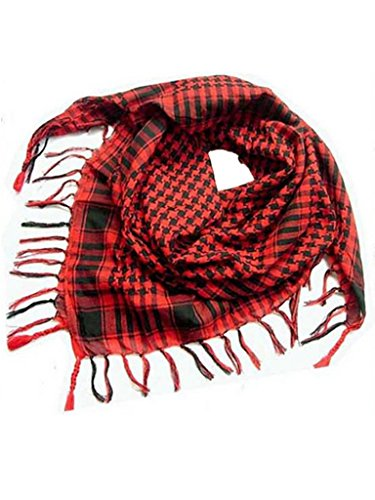 Blooming-Jelly-Womens-Plaid-Fringe-Square-Scarves-Red
