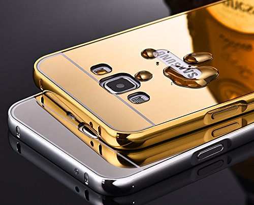 purchase cheap 9f144 1c5bd Febelo Febelo Branded Luxury Metal Bumper Acrylic Mirror Back Cover Case  For Samsung J7 - Gold Plated
