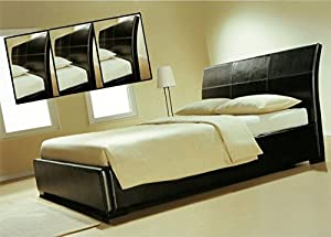 leder betten ko betten mit fsc umwelt holz g nstiges lederbett braunes bettrahmen bettgestell. Black Bedroom Furniture Sets. Home Design Ideas