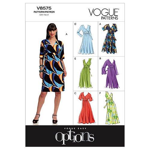Vogue Patterns V8575 Misses' Dress, Size BB (8-10-12-14)
