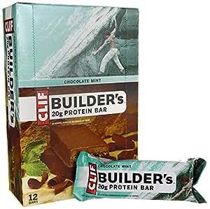 Clif Builder's Cocoa Dipped Double Decker Crisp Bar Chocolate Mint - 12 - 2.4 oz