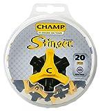 CHAMP(チャンプ) ゴルフシューズ靴鋲 スティンガー 3 (ミリ)20P  S-87 黒/黄 ランキングお取り寄せ