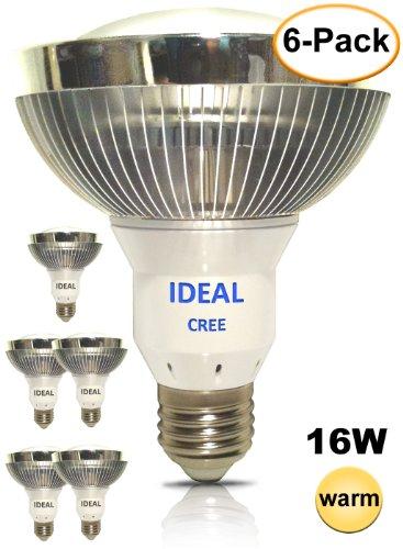 (6 Pack) Ideal Led (Cree) 16 Watt Soft Warm 2700K Par30 Flood Light Bulb 125 Deg Replace 150 Watt