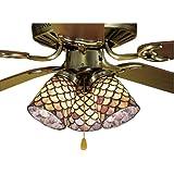 Meyda 27468 4 Inch W Tiffany Fishscale Fanlite Shade Ceiling Fixture