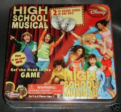 High School Musical & High School Musical 2 Cd Board Games, Two Games in One Box!