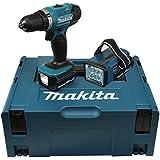 Makita Akku-Bohrschrauber 14,4 V, 1,5 Ah inklusive Akku-Lampe, DDF343RYLJ