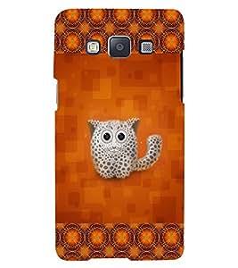 Fuson 3D Printed Cat Designer back case cover for Samsung Galaxy E5 - D4153