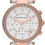Michael Kors Damen-Armbanduhr Chronograph Quarz Leder MK2281 -