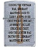 Vietnam War Bullet Zippo Lighter - Street Chrome