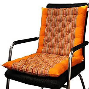 Orange Rocking Chair Cushions YLogo Indoor Or Outdoor Thicken Stripe .