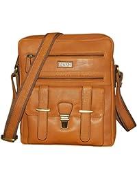 Kan 100% Genuine Leather Crossbody Sling Bag  Messenger Bag  Handbag  Hard Disk Bag  Neck Pouch  Shoulder Bag...