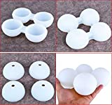 Suntake Silicone Ice Sphere Trays Ice Ball Tray 4-Link Super Jumbo [Diameter 2.36 inch] Round Ice Molds