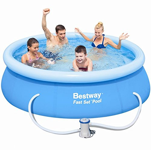 Bestway 57100GS Fast Pool Set mit Filterpumpe, 244 x 66 cm GS