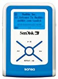 SanDisk デジタルオーディオプレーヤー sansa e100 512MB ブルー SDMX2-512B-J65A