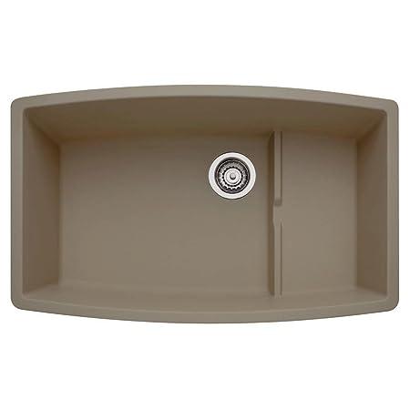 Blanco 441291 Performa Silgranit II Cascade Sink, Truffle