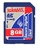 TakeMS 8GB Class 6 MicroSDHC Memory Card with 2 Adapters
