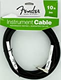 Fender Accessories 099-0820-006 Performance Series Cables 10 Feet Right-Angle Instrument Cable - Black