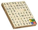 Alphabet-Stempelset 68 Stempel + 1 Kissen (4 farbig)