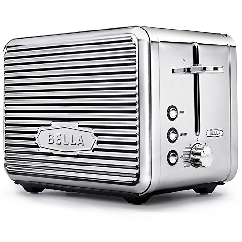 BELLA LINEA 2 Slice Toaster with Extra Wide Slot, Color Polished Stainless Steel (Bella Toast Oven compare prices)