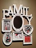 3D Family Fotorahmen Bilderrahmen Collage Bilder Rahmen Spiegel Wandspiegel Neu Farbe Weiss