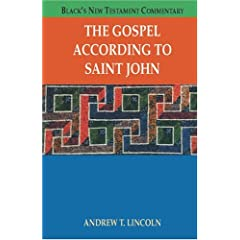 The Gospel According To Saint John (Black's New Testament Commentary)