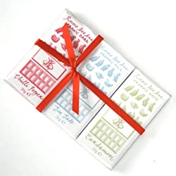 Bee Bar Set: Sea Salt Milk, Chilli Dark, Cardamom White