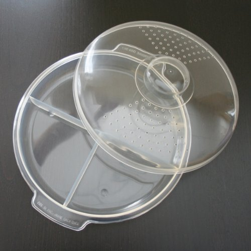 Hampton Direct Divided Microwave Dish With Vented Lid