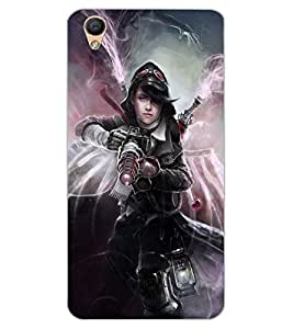 ColourCraft Ghost Rider Girl Design Back Case Cover for OPPO F1 PLUS