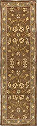 Brown Rug Classic Design 2-Foot 3-Inch x 10-Foot Hand-Made Traditional Wool Carpet