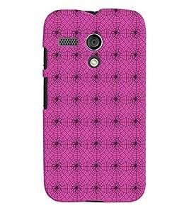 PrintVisa Corporate Print & Pattern Spider Web 3D Hard Polycarbonate Designer Back Case Cover for Motorola Moto G