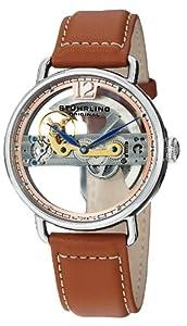 Stuhrling Original Men's 465.3315T4 Symphony Aristocrat Bridge Automatic Skeleton Tan Leather Watch