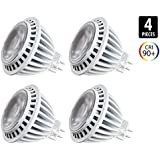 4-Pack of Hyperikon MR16 LED 7-watt (50-Watt Replacement), 2700K (Warm White), CRI90+, 490lm, Spot Light Bulb, Dimmable, UL-Listed and FCC Approved