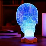 Black Menba 3D Skull visualization Glow Sculpture LED Lamp