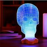 Black Menba 3D Skull visualization Glow Sculpture LED Lamp