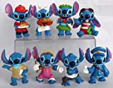 Lilo and Stitch 8 Piece Figure Set Featuring Chef Stitch, Hula Stitch, Beach Bum Stitch, Painter Stitch, Mailman Stitch, and Fast Food Server Stitch - Figures Range from 2