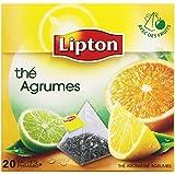 Lipton Thé parfumé agrumes 20 sachets - Lot de 3