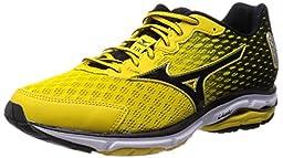 Mizuno Running Shoes Wave Rider 18 Sw Yellow / Black / Silver J1gc150409 (7)