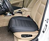 EDEALYN High Quality Car Seat Cover Front seat protection cover for BMW 7 Series / X6 / X5,VW Phaeton / Touareg,Lexus LS / GS / ES / RX ,1pcs front row seat cover (L, Black)