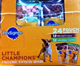 Pedigree Little Champions Variety Pack 24 Pouches 5.3 oz. each (12 Beef in Sauce,12 Chicken in Gravy)