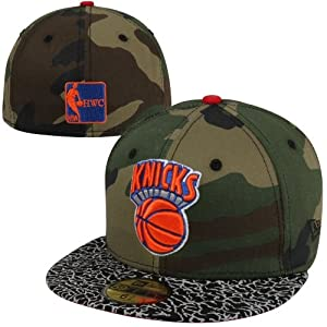 New Era New York Knicks Camo Hooked Hardwood Classics 59FIFTY Fitted Hat - Gray Camo by New Era
