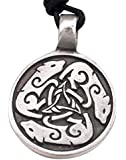 Dan Jewelers Dogs Dog Wolf Celtic Circle Pewter Pendant Necklace